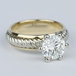 Two-Tone Twisted Rope Diamond Engagement Ring (1.80 Carat) - small angle 3
