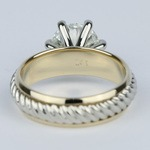 Two-Tone Twisted Rope Diamond Engagement Ring (1.80 Carat) - small angle 4