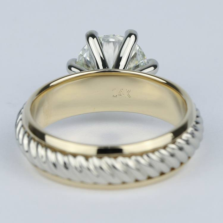 Two-Tone Twisted Rope Diamond Engagement Ring (1.80 Carat) angle 4