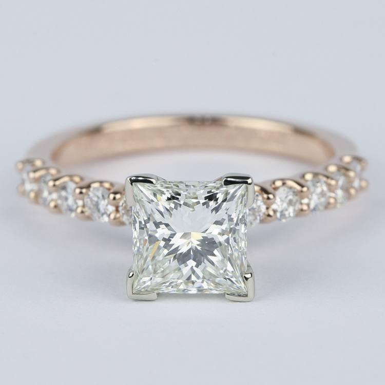 Princess Diamond Engagement Ring with U-Prong Band