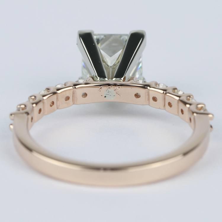 Princess Diamond Engagement Ring with U-Prong Band angle 4