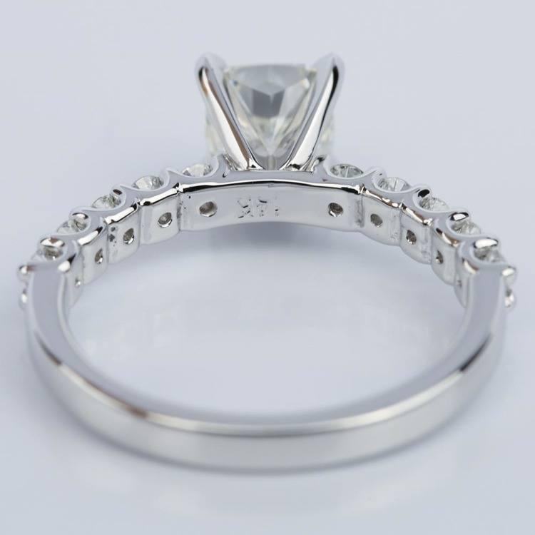 U-Prong Cushion Diamond Engagement Ring in White Gold (1.25 ct.) angle 4