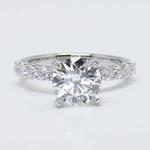 U-Prong Round Diamond Engagement Ring (2 Carat) - small