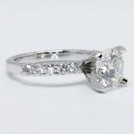 U-Prong Round Diamond Engagement Ring (2 Carat) - small angle 3