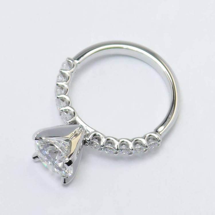 U-Prong Round Diamond Engagement Ring (2 Carat) angle 4
