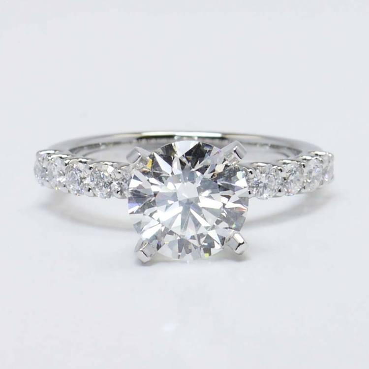 U-Prong Round Diamond Engagement Ring (2 Carat)