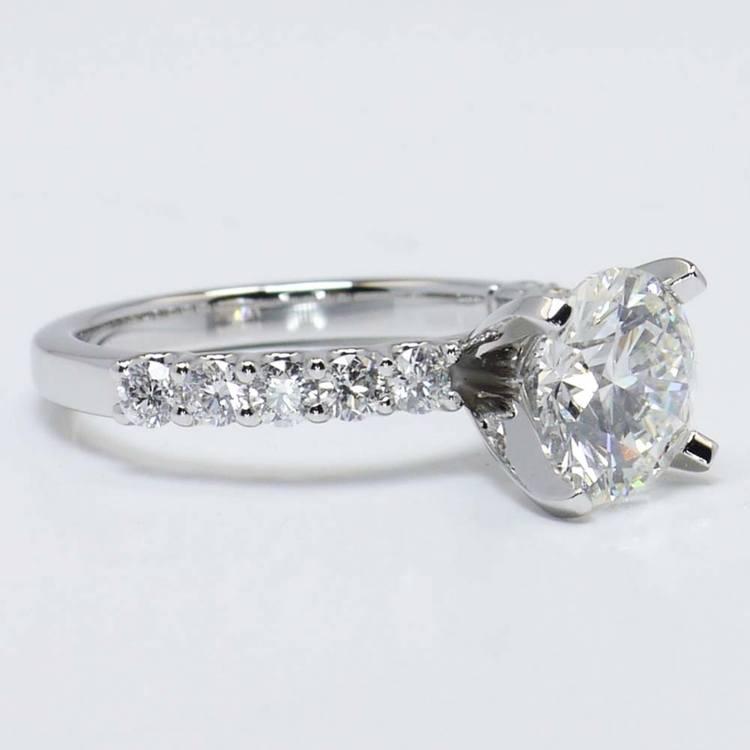 U-Prong Round Diamond Engagement Ring (2 Carat) angle 3