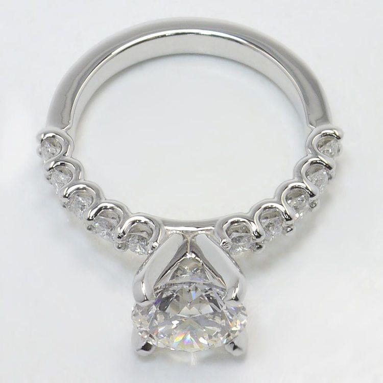 U-Prong 1.70 Carat Round Diamond Engagement Ring angle 4