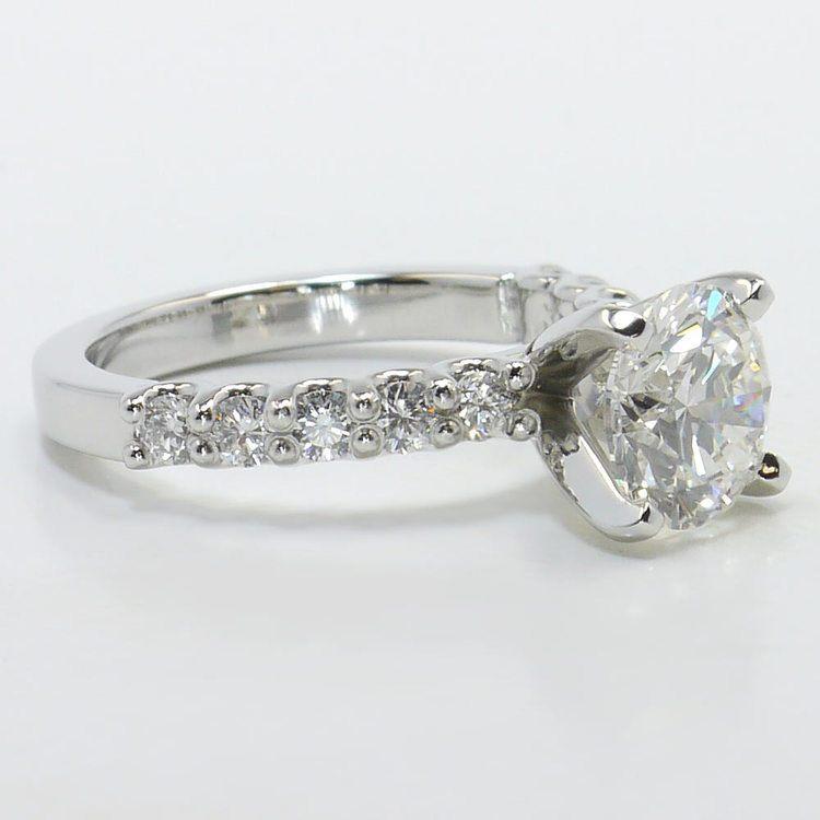 U-Prong 1.70 Carat Round Diamond Engagement Ring angle 3