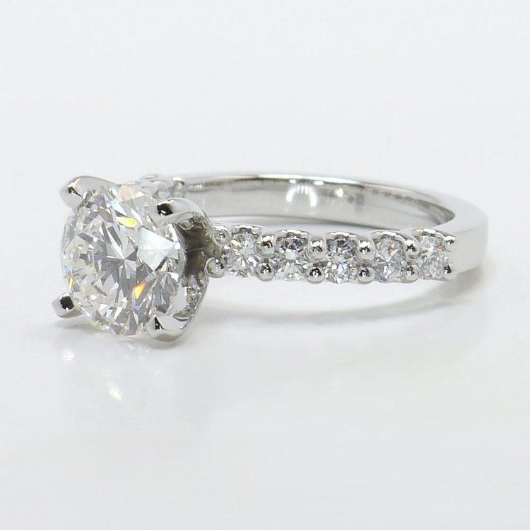 U-Prong 1.70 Carat Round Diamond Engagement Ring angle 2