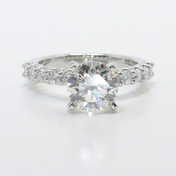 U-Prong 1.70 Carat Round Diamond Engagement Ring