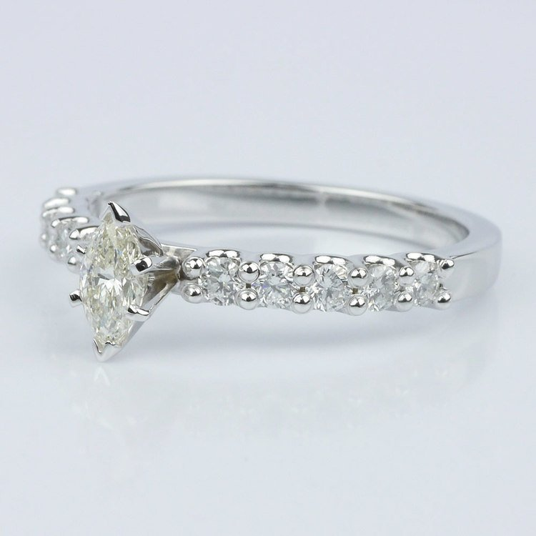 U-Prong Marquise Diamond Engagement Ring (0.30 ct.) angle 2