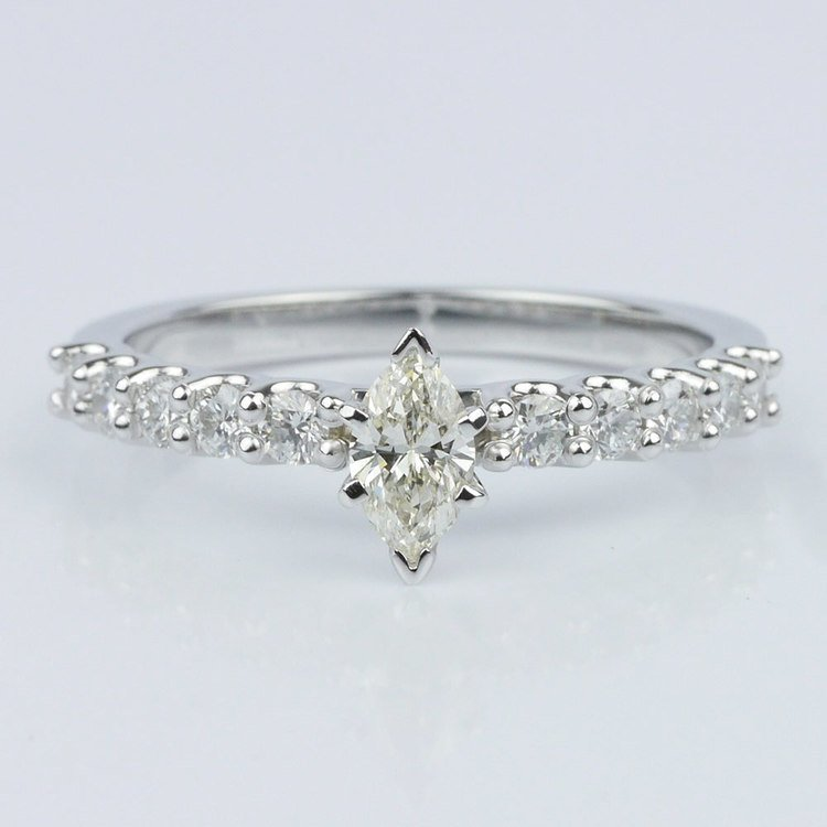 U-Prong Marquise Diamond Engagement Ring (0.30 ct.)