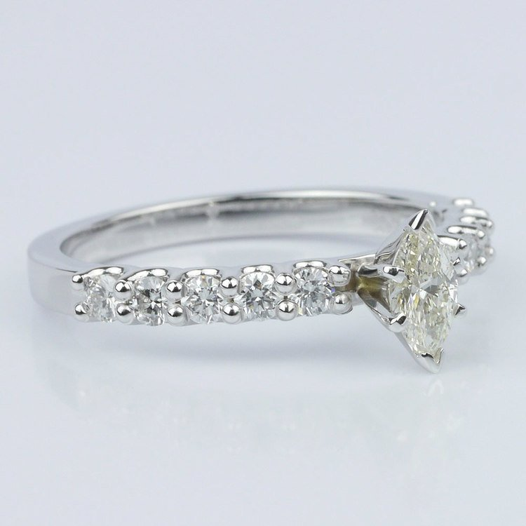 U-Prong Marquise Diamond Engagement Ring (0.30 ct.) angle 3