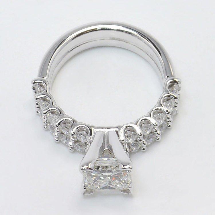 U-Prong Princess Diamond Engagement Ring With Matching Band angle 4