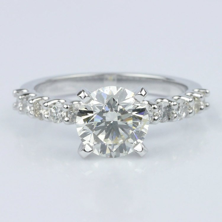 U-Prong Round Diamond Engagement Ring (1.70 ct.)