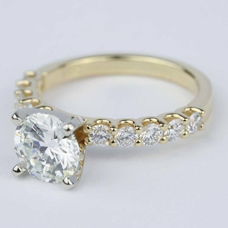 U-Prong Super Ideal Diamond Engagement Ring (1.50 ct.) angle 2