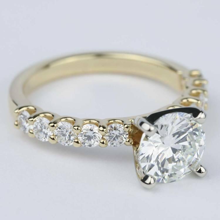 U-Prong Super Ideal Diamond Engagement Ring (1.50 ct.) angle 3