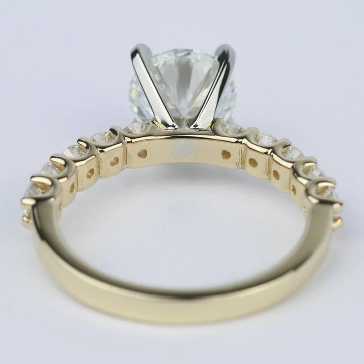 U-Prong Super Ideal Diamond Engagement Ring (1.50 ct.) angle 4