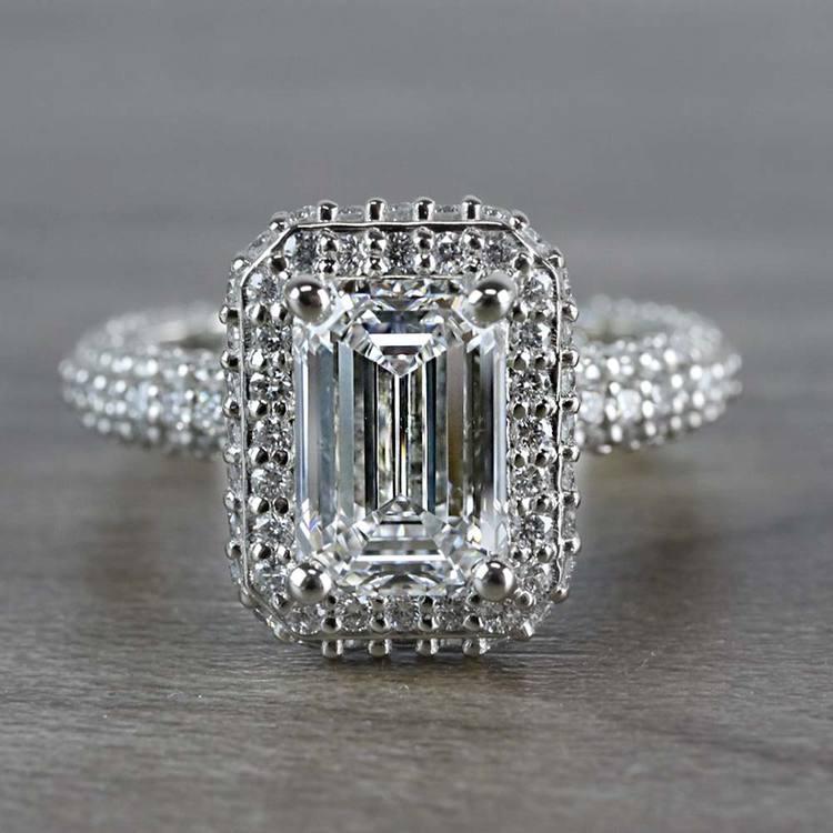Unique Vintage Emerald Cut 2 Carat Diamond Ring