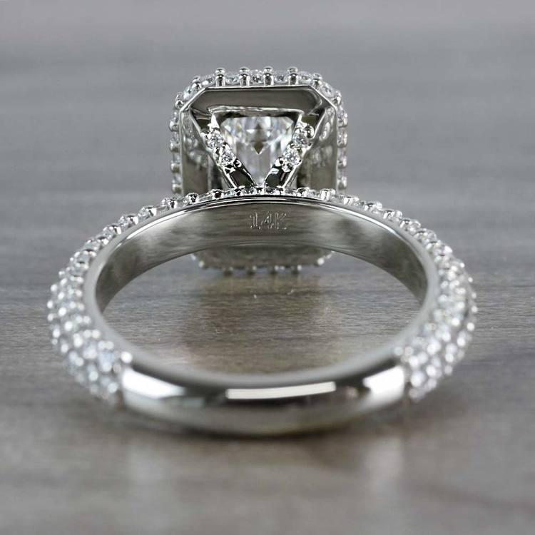 Unique Vintage Emerald Cut 2 Carat Diamond Ring angle 4