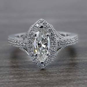 Unique Vintage Style Marquise Diamond Ring