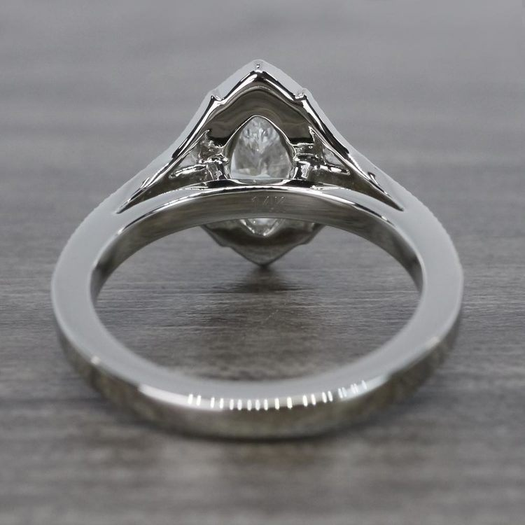 Unique Vintage Style Marquise Diamond Ring angle 4