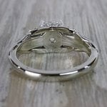 Vintage Diamond Sun Flower Engagement Ring - small angle 4