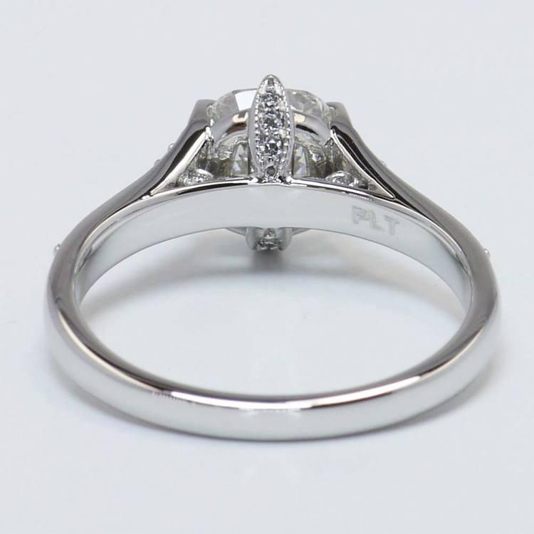 1.81 Carat Cushion Edwardian Vintage Diamond Engagement Ring angle 2