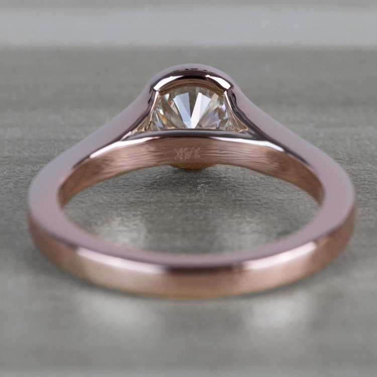 Vintage Floating Bezel Solitaire Diamond Engagement Ring angle 4
