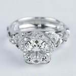 Vintage Floral Crown Parade Diamond Engagement Ring (1.38 ct.) - small