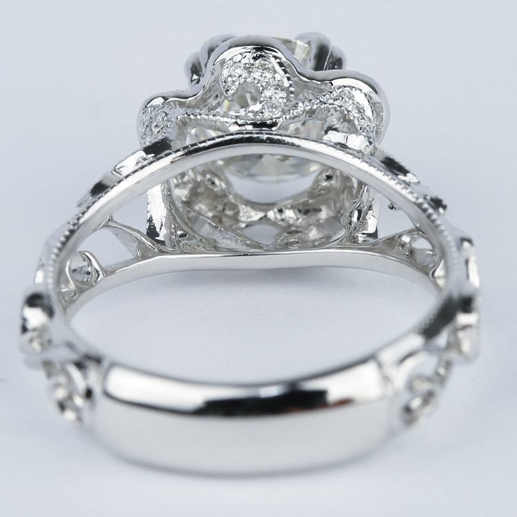Vintage Floral Crown Parade Diamond Engagement Ring (1.38 ct.) angle 4