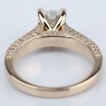 Vintage Milgrain Cushion Diamond Engagement Ring - small angle 4