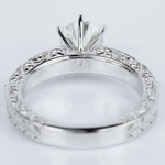 Vintage Milgrain & Scroll-Work Diamond Engagement Ring (0.90 ct.) - small angle 4