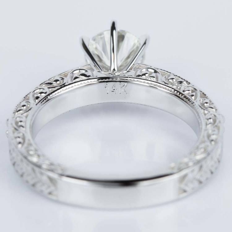 Vintage Milgrain & Scroll-Work Diamond Engagement Ring (0.90 ct.) angle 4