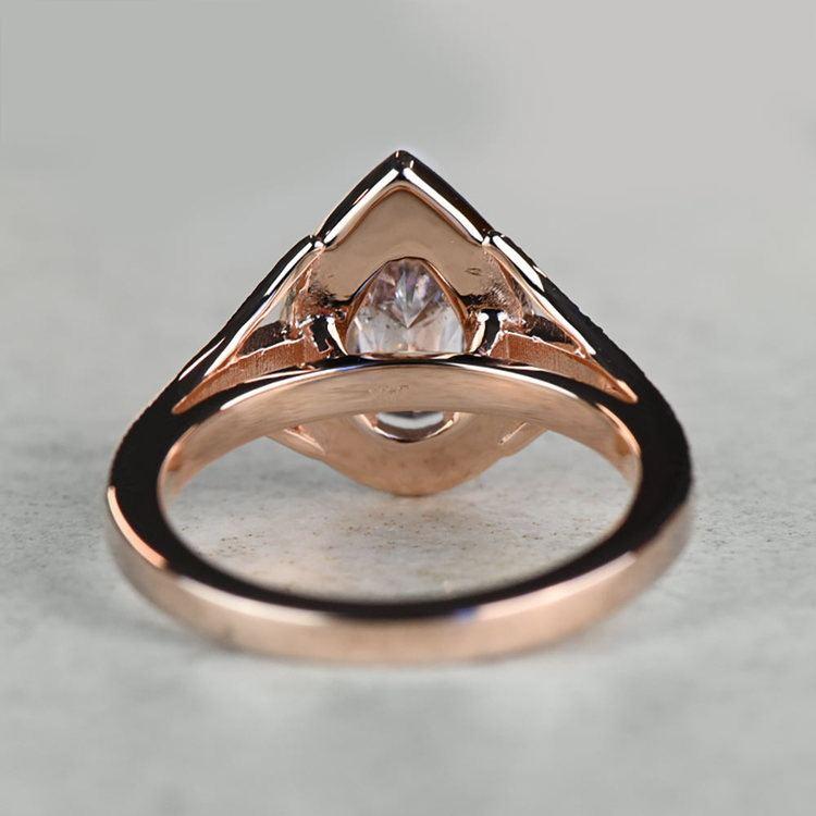 Vintage Pear 1 Carat Pink Diamond Engagement Ring angle 4