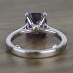 Violet Custom Cushion Amethyst Engagement Ring with Surprise Diamond - small angle 4