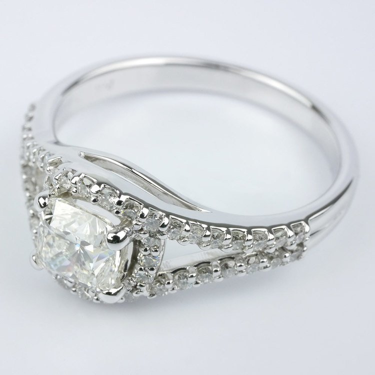 Wrapped Halo Diamond Engagement Ring angle 2