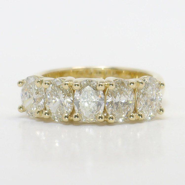 5 Stone 2 3 Carat Oval Diamond Engagement Ring