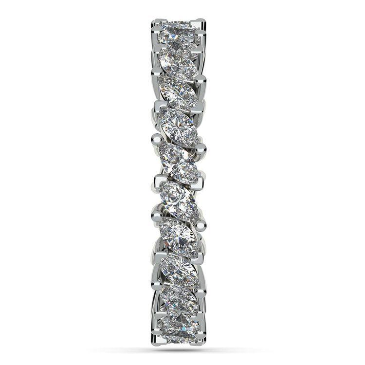 1.75 Carat Marquise Cut Diamond Eternity Band In Platinum   05