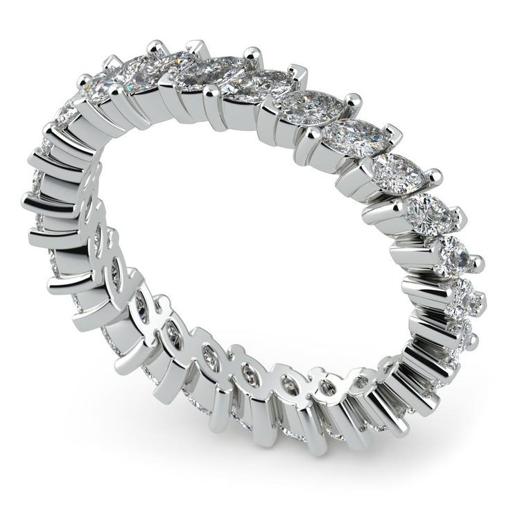 1.75 Carat Marquise Cut Diamond Eternity Band In White Gold   01