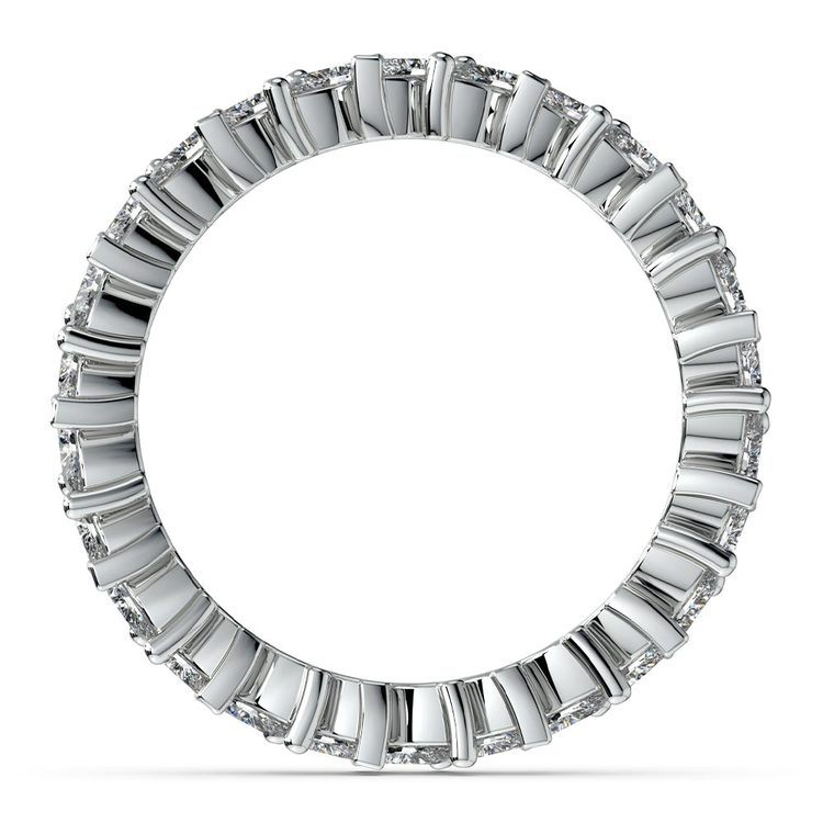 1.75 Carat Marquise Cut Diamond Eternity Band In White Gold   03