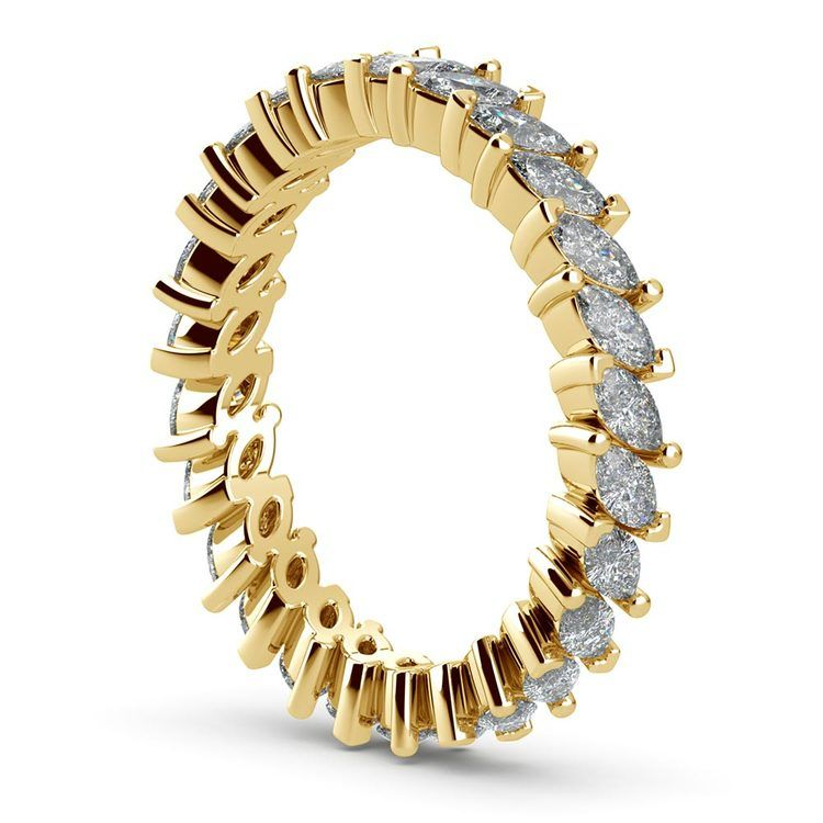 1.75 Carat Marquise Cut Diamond Eternity Band In Yellow Gold   04