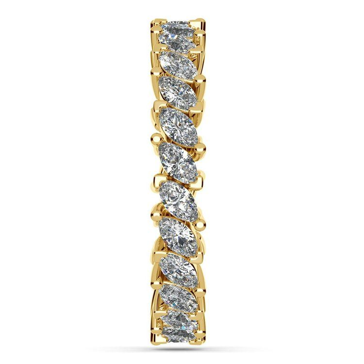 1.75 Carat Marquise Cut Diamond Eternity Band In Yellow Gold   05