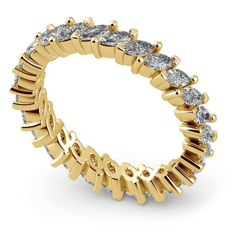 1.75 Carat Marquise Cut Diamond Eternity Band In Yellow Gold   01
