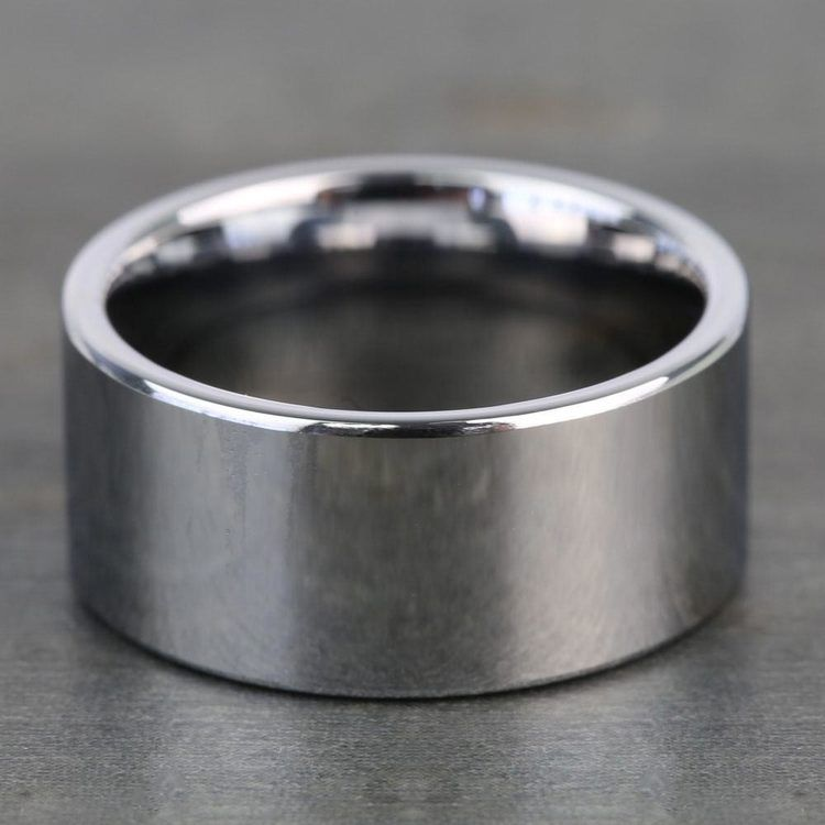 10mm Pipe Cut Tungsten Carbide Mens Band | 03