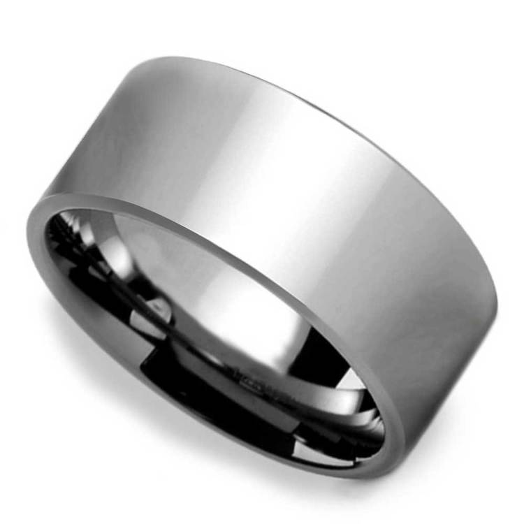 10mm Pipe Cut Tungsten Carbide Mens Band | 01