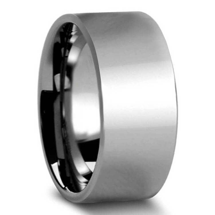 10mm Pipe Cut Tungsten Carbide Mens Band | 02