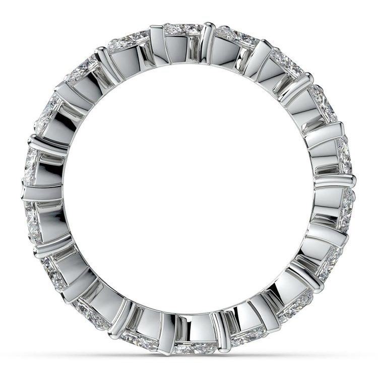 Luxury Marquise Diamond Eternity Band In White Gold | 03