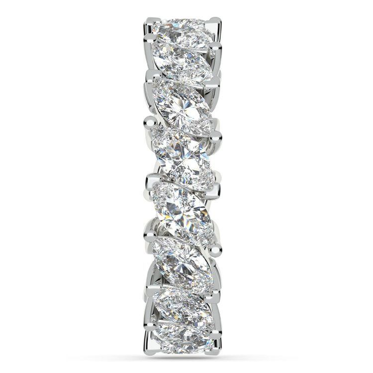 Luxury Marquise Diamond Eternity Band In White Gold | 05